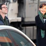 Katie Holmes happy walking to set with Guy Pearce 42797