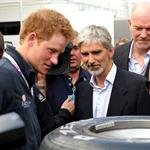 Prince Harry at the British F1 Grand Prix  89654