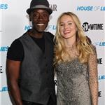 Don Cheadle and Kristen Bell arrive at the premiere screening of House of Lies 102215