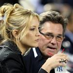Kate Hudson at Friday's game with her dad Kurt Russell 48525
