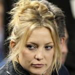 Kate Hudson at Friday's game with her dad Kurt Russell 48526