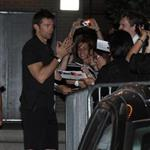 Hugh Jackman greets fans after performing at the Princess of Wales theatre in Toronto 89580
