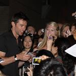 Hugh Jackman greets fans after performing at the Princess of Wales theatre in Toronto 89582