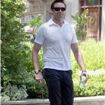 Hugh Jackman walks his dog in Toronto 90041
