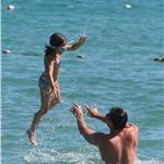Hugh Jackman plays with his daughter Ava while on holiday in St Tropez 92957
