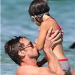 Hugh Jackman plays with his daughter Ava while on holiday in St Tropez 92960