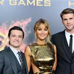 Josh Hutcherson, Jennifer Lawrence and Liam Hemsworth at the world premiere of The Hunger Games  108776