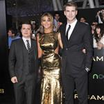 Josh Hutcherson, Jennifer Lawrence and Liam Hemsworth at the world premiere of The Hunger Games  108778