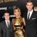 Josh Hutcherson, Jennifer Lawrence and Liam Hemsworth at the world premiere of The Hunger Games  108779