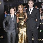 Josh Hutcherson, Jennifer Lawrence and Liam Hemsworth at the world premiere of The Hunger Games  108781
