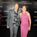 Woody Harrelson and Laura Louie at the world premiere of The Hunger Games 108820