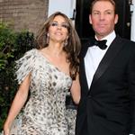 Elizabeth Hurley takes Shane Warne to Elton John's White Tie and Tiara party 88413