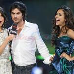 Nina Dobrev Ian Somerhalder with Selena Gomez at the MMVAs 88319