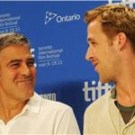 TIFF Photos: George Clooney and Ryan Gosling at Ides of March press conference.  Photos from Matt Carr/Jason Merritt/Gettyimages.com 93793