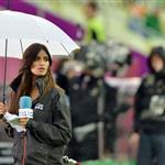 Sara Carbonero is pictured prior to the Euro 2012 championshipsfootball match Spain vs Republic of Ireland 117773