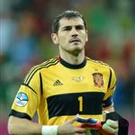 Iker Casillas leaves the pitch at the end of the Euro 2012 championships football match Spain vs Republic of Ireland 117775