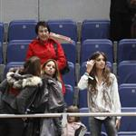 Sara Carbonero watches Iker Casillas play in charity match December 2010  75876