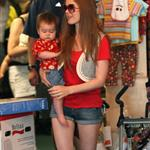 Isla Fisher and baby Olive shopping  23593