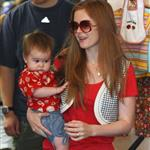 Isla Fisher and baby Olive shopping  23589