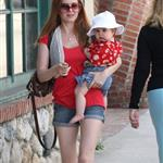 Isla Fisher and baby Olive shopping  23590