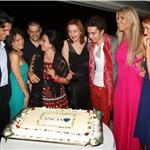 Robert Sheehan at the Taormina Film Festival closing ceremonies with Tiziana Rocca and guests 90261