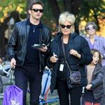 Hugh Jackman with his family in New York  97586