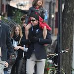 Hugh Jackman spends Christmas Day with family in New York  101415