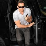 Hugh Jackman arrives at Good Morning America to promote Wolverine 37987