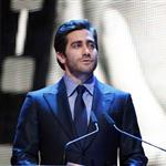 Jake Gyllenhaal presents the Golden Honorary Bear award for Lifetime Achievement to Meryl Streep at the Berlinale Palace in Berlin 106242