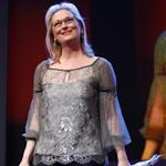 Meryl Streep receives the Golden Honorary Bear award for Lifetime Achievement from Jake Gyllenhaal at the Berlinale Palace in Berlin 106247
