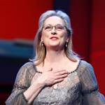 Meryl Streep receives the Golden Honorary Bear award for Lifetime Achievement from Jake Gyllenhaal at the Berlinale Palace in Berlin 106248