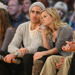 Jake Gyllenhaal and Reese Witherspoon at Laker game  30069