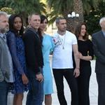 Sam Mendes, Naomie Harris, Daniel Craig, Berenice Marlohe, Ola Rapace, producers Barbara Broccoli and Michael G Wilson at a Photocall for the lastest James Bond 007 film Skyfall 113091