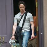James McAvoy on the set of The Disappearance Of Eleanor Rigby 120309