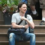 James McAvoy on the set of The Disappearance Of Eleanor Rigby 120314