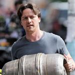 "James McAvoy seen filming ""The Disappearance of Eleanor Rigby"" in East Village, New York 123905"