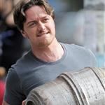 "James McAvoy seen filming ""The Disappearance of Eleanor Rigby"" in East Village, New York 123909"
