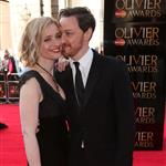 Ann-Marie Duff and James McAvoy at The Olivier Awards 2012 111332