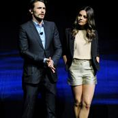 James Franco and Mila Kunis at a presentation of Oz: The Great and Powerful at The Colosseum at Caesars Palace during CinemaCon 112284