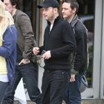 James McAvoy with Matthew Vaughn and Aaron Johnson in London rumours of X-Men: First Class 62158