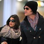 Jared Padalecki and pregnant wife Genevieve Cortese at Vancouver airport heading to Toronto for Supernatural convention  95990