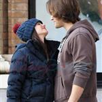 Jared Padalecki kisses pregnant wife Genevieve 100242