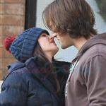 Jared Padalecki kisses pregnant wife Genevieve 100244