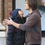 Jared Padalecki kisses pregnant wife Genevieve 100255