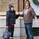Jared Padalecki kisses pregnant wife Genevieve 100256