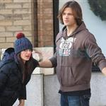 Jared Padalecki kisses pregnant wife Genevieve 100259