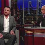 Jason Segel appears on The Late Show with David Letterman 112174