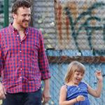 Matilda Ledger and Jason Segel hang out in NYC 120400