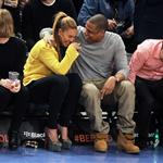 Beyonce and Jay-Z make first public appearance together at NY Knicks game, NYC 106662