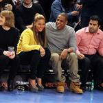 Beyonce and Jay-Z make first public appearance together at NY Knicks game, NYC 106663